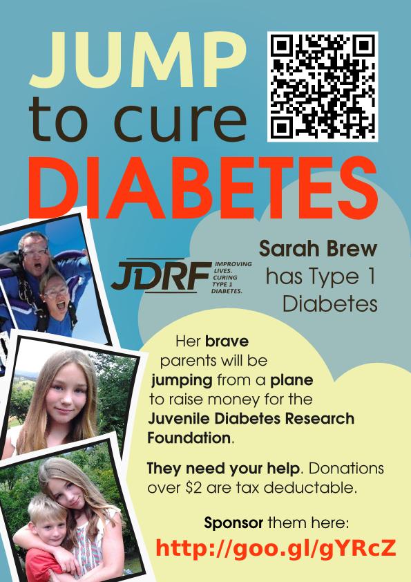 Diabetes Fundraiser Poster - BAM Weblog